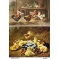 Рисовая бумага для декупажа 160289 Птичий двор, А4, Бижу-Мастер, Россия