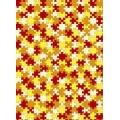 """Бумага для декопатч 627 """"Желто-красные пазлы"""", Decopatch (Франция), 30х40 см"""