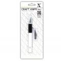 Нож макетный (цанговый) для резки бумаги, 3 запасных лезвия, HCUT