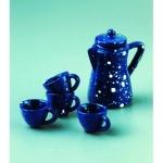 """Декоративные миниатюрные предметы """"Чайный сервиз, фаянс"""", 1-2 см и 5 см, EFCO (Германия)"""