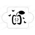 """Трафарет пластиковый EDMD150 """"Яблоко и бабочки"""", 10х10 см, Event Design"""