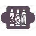 "Трафарет пластиковый EDMD182 ""Бутылки"", 10х10 см, Event Design"