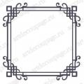 Трафарет маска фоновый EDMF153 Рамка классическая, Event Design, 15х15 см