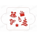 """Трафарет новогодний EDNG059 """"Рождественские символы"""", 10х10 см, Event Design"""