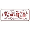 "Трафарет новогодний EDNGB014 ""Новогодние символы"", 10х25 см, Event Design"
