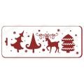 "Трафарет новогодний EDNGB018 ""Лесной олень"", 10х25 см, Event Design"