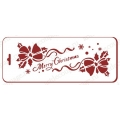 "Трафарет новогодний EDNGB019 ""Рождественские банты"", 10х25 см, Event Design"