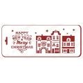 "Трафарет новогодний EDNGB024 ""Город под Новый год"", 10х25 см, Event Design"