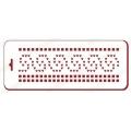 "Трафарет новогодний EDNGB062 ""Вязаный орнамент волны"", 10х25 см, Event Design"
