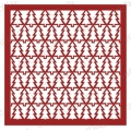 "Трафарет маска новогодний EDNGM004 ""Орнамент из елок"", 15х15 см, Event Design"