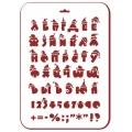 """Трафарет пластиковый новогодний EDNGP031 """"Рождественский алфавит"""", 21х31 см, Event Design"""