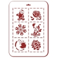 "Трафарет пластиковый новогодний EDNGP043 ""Новогодний микс 1"", 21х31 см, Event Design"