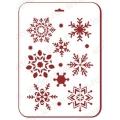 "Трафарет пластиковый новогодний EDNGP065 ""Снежинки 7"", 21х31 см, Event Design"