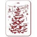 "Трафарет пластиковый новогодний EDNGP068 ""Новогодняя елка"", 21х31 см, Event Design"