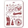 "Трафарет пластиковый новогодний EDNGP076 ""Новогодняя почта"", 21х31 см, Event Design"