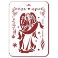 "Трафарет пластиковый новогодний EDNGP077 ""Ангел Рождества"", 21х31 см, Event Design"