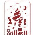 "Трафарет пластиковый новогодний EDNGP082 ""Зайцы у елки"", 21х31 см, Event Design"