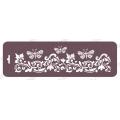 Трафарет бордюр EDTMB029 Бабочки и орнамент, 10х32 см, Event Design
