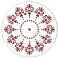 """Трафарет для росписи """"Круглый орнамент 06"""", Event Design, диаметр 15 см"""