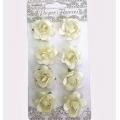 Цветы для скрапбукинга Розочки кремовые 8 шт., ScrapBerry's