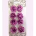 Цветы для скрапбукинга Розочки фиолетовые 8 шт., ScrapBerry's