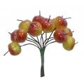 Декоративный букетик Яблочки желто-красные Hobby&You