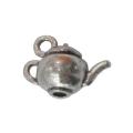 """Подвеска металлическая для скрапбукинга """"Чайник"""", 3D, 12х18х10 мм, цвет античное серебро, ScrapBerry's"""