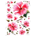 "Рисовая бумага Love2Art 0102, ""Розовые цветы"", 32х45см, Kalit (Италия)"