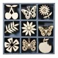 """Набор декоративных элементов из дерева """"Фрукты и бабочки"""", 45 шт, 22 мм, Knorr prandell"""