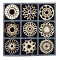 """Набор декоративных элементов из дерева """"Фантазийные круги"""", 45 шт, 22 мм, Knorr prandell"""