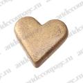 "Кнопки для скрапбукинга ""Сердце"", старое золото, 8 мм, 25 шт., Knorr prandell (Германия)"