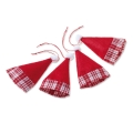 """Декоративные элементы """"Колпак Санты"""" ткань, 6,5х11 см, 4 шт., Knorr prandell"""