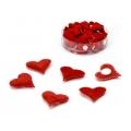 """Декоративные элементы """"Сердечки красные"""", ткань, клеевое крепление, 2 см, 72 шт., Knorr prandell"""