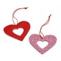 """Декоративные элементы """"Подвески сердечки"""", ткань, 4,5 см, 12 шт., Knorr prandell"""