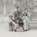 """Салфетка для декупажа SVD80020 """"Рождественские ангелочки"""", 33х33 см, Sagen Vintage Design, Норвегия"""