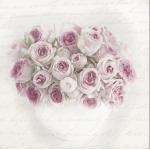 """Салфетка для декупажа SVD80062 """"Букет роз в вазе"""", 33х33 см, Sagen Vintage Design, Норвегия"""