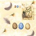 "Салфетка для декупажа M74165 ""Птицы, птичьи яйца"", желтый,  33х33 см, Австрия"