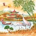 """Салфетка для декупажа SLOG026101 """"Китай"""", 33х33 см, POL-MAK"""