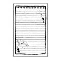 """Штамп резиновый на резиновой основе WTKCC100 """"Листочек для записей"""", Stamperia, 7х11 см"""