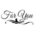 "Штамп резиновый на резиновой основе WTKCC29 ""For you"", Stamperia, 7х11 см"