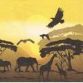 "Салфетка для декупажа HF13308265 ""Сафари в Африке"", 33х33 см, Германия"