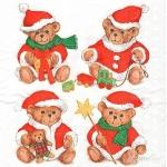 """Салфетка для декупажа HF33304815 """"Рождественские медведи"""", 33х33 см, Ambiente (Голландия)"""