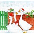 """Салфетка для декупажа HF33304850 """"Рождественские гуси"""", 33х33 см, Ambiente (Голландия)"""