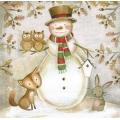 "Салфетка для декупажа HF33304890 ""Лесной снеговик"", 33х33 см, Ambiente (Голландия)"