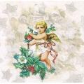 """Салфетка для декупажа HF33304896 """"Рождественский ангел"""", 33х33 см, Ambiente (Голландия)"""