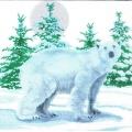 "Салфетка для декупажа HF3331675 ""Белый медведь"", 33х33 см, Германия"