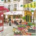 "Салфетка для декупажа HFRDP ""Парижские улочки"", 33х33 см, Германия"