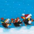 """Салфетка для декупажа """"Пингвины на лыжах"""", 33х33 см, Германия"""
