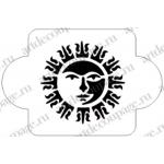 """Трафарет пластиковый EDMD070 """"Солнце 2"""", 10х10 см, Event Design"""