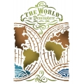 "Трафарет пластиковый KSG376 ""Карта мира"", 21х29,7 см, Stamperia (Италия)"
